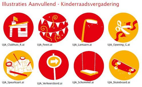 Illustraties Kinderraadsvergadering