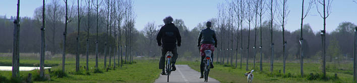 Fietsers in Ruigenhoek