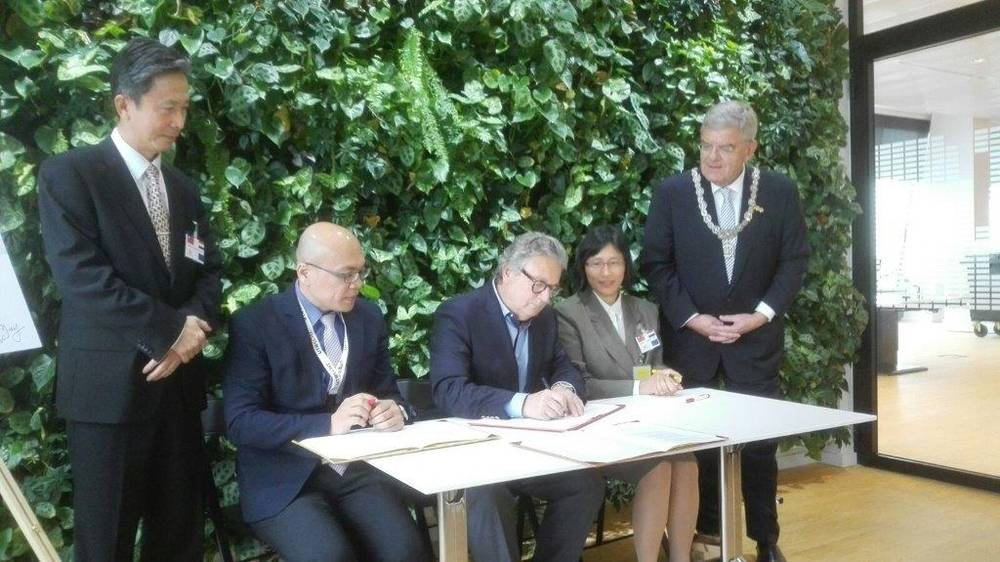 Ondertekenen intentieverklaring op Taiwan business day 2015