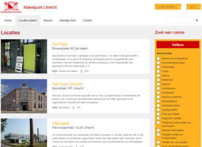 Screenshot van de website van Makelpunt Utrecht
