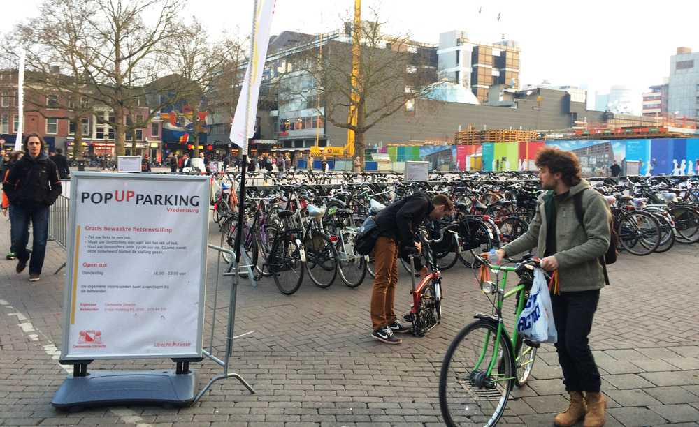 Pop-up bicycle parking Vredenburg