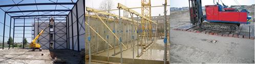Materialen voor bouwactiviteiten